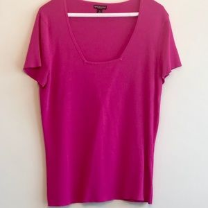 Short Sleeved Hot Pink Top.